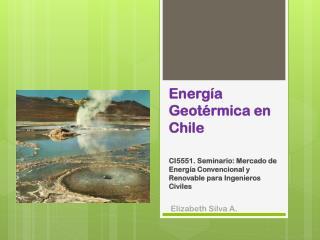 Energía Geotérmica en Chile