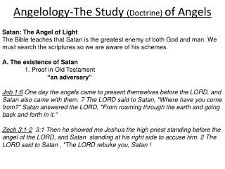 Angelology-The Study  (Doctrine)  of Angels