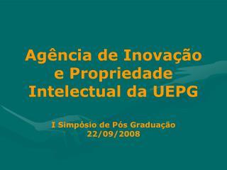 Agência de Inovação e Propriedade Intelectual da UEPG