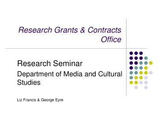 Research Grants & Contracts Office