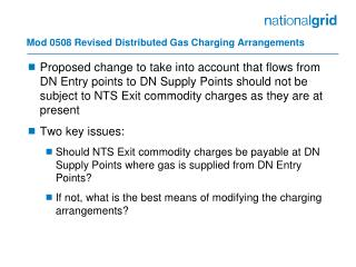 Mod 0508 Revised Distributed Gas Charging Arrangements
