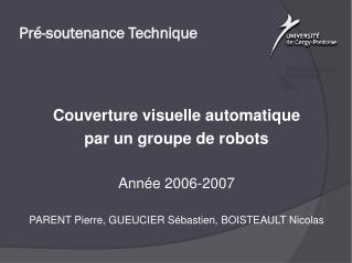 Pré-soutenance Technique