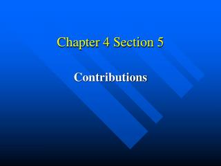 Chapter 4 Section 5