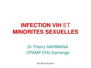 INFECTION VIH ET  MINORITES SEXUELLES