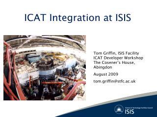 ICAT Integration at ISIS