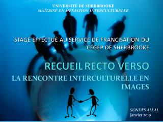 LA RENCONTRE INTERCULTURELLE EN IMAGES