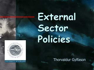 External Sector Policies