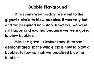 Bubble Playground