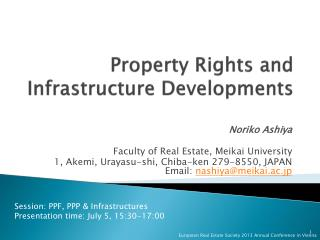Property Rights and Infrastructure Developments