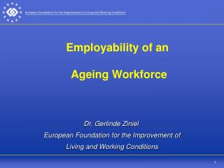 Employability of an  Ageing Workforce