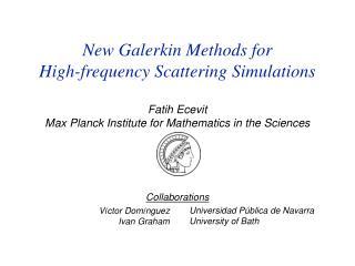 Fatih Ecevit Max Planck Institute for Mathematics in the Sciences
