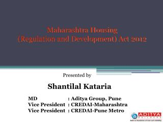 Maharashtra Housing  (Regulation and Development) Act 2012