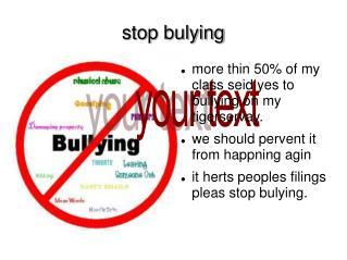 stop bulying