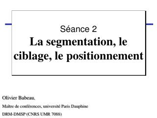 Ppt segmentation de march ciblage et positionnement - Grille de salaire maitre de conference ...
