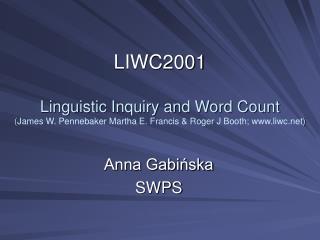 Anna Gabińska SWPS