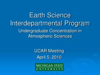 Earth Science Interdepartmental Program