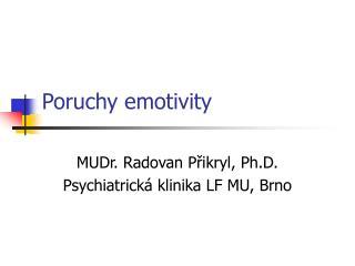 Poruchy emotivity