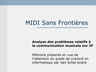 MIDI Sans Frontières