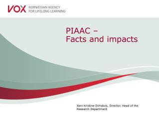 PIAAC – Facts and impacts