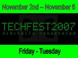 November 2nd – November 6