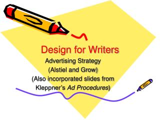 Design for Writers