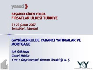 BAŞARIYA GİDEN YOLDA FIRSATLAR ÜLKESİ TÜRKİYE 21-22 Şubat 2007 Swissôtel, İstanbul