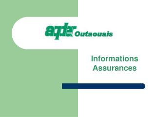 Informations Assurances