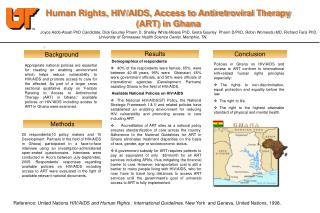 Human Rights, HIV/AIDS, Access to Antiretroviral Therapy (ART) in Ghana J
