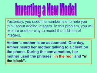 Inventing a New Model