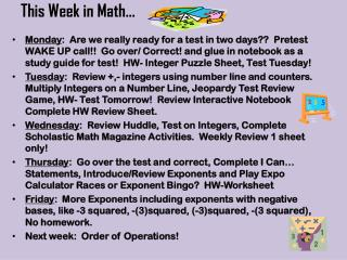This Week in Math…