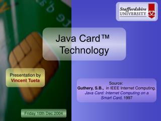 Java Card ™ Technology