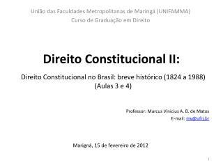 Direito Constitucional II: