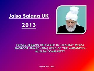 Jalsa  Salana  UK  2013