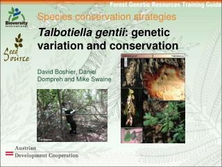 Species conservation strategies