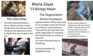 Maria  Zayas '13 Biology Major