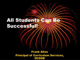 All Students Can Be Successful!