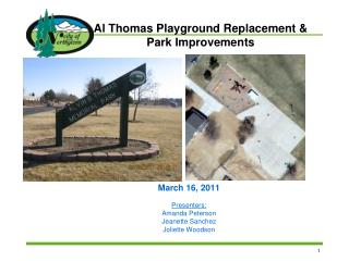 Al Thomas Playground Replacement &  Park Improvements