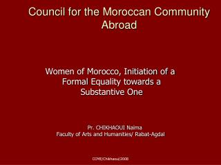 Council for the  Moroccan Community Abroad