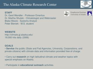 The Alaska Climate Research Center