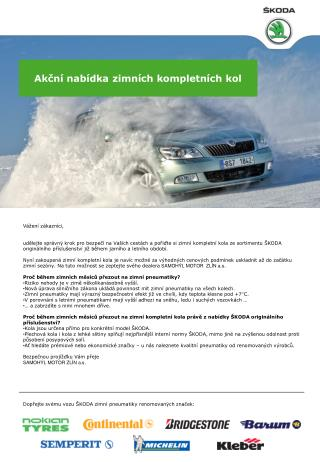 Akční nabídka zimních kompletních kol