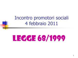 Incontro promotori sociali 4 febbraio 2011