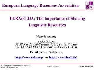 European Language Resources Association