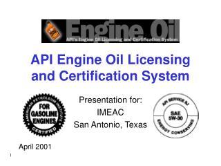 API Engine Oil Licensing