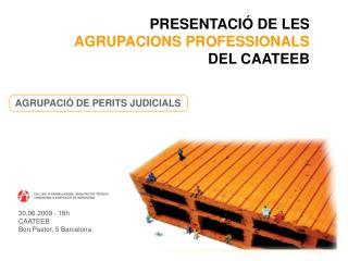 PRESENTACIÓ DE LES  AGRUPACIONS PROFESSIONALS DEL CAATEEB