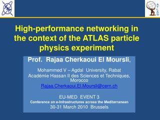 High-performance networking in the context of the ATLAS particle physics experiment