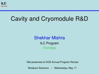 Cavity and Cryomodule R&D