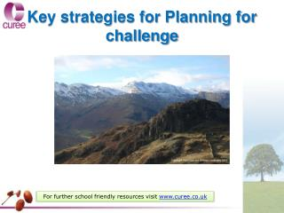 Key strategies for Planning for challenge