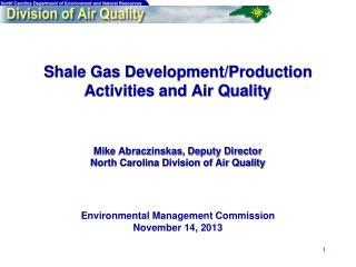 Environmental Management Commission November 14, 2013