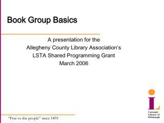 Book Group Basics