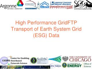 High Performance GridFTP Transport of Earth System Grid (ESG) Data